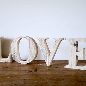 Love Wooden Handmade Letters