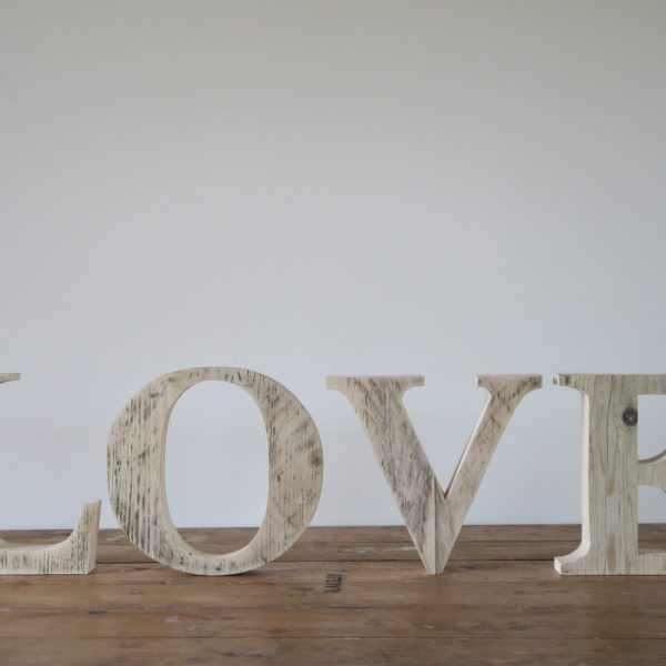 Love Wooden Hand made Letters