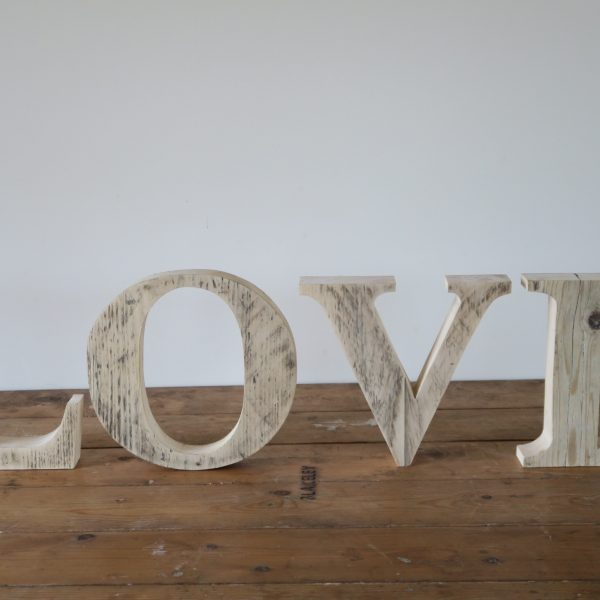 Love Wooden Hand made Letters and Numbers